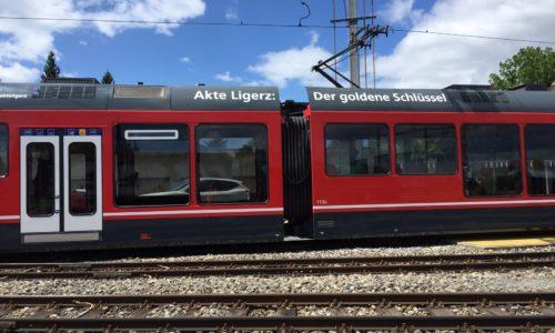 Beschriftung Zug und Tram