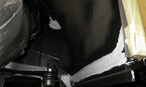Unterbodenschutzbehandlung Korrosion Rost Carrosserie Bus