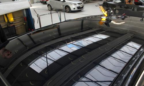 Hagelschaden an PW Dach